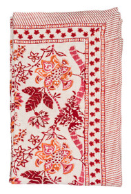 Tablecloth - Floral - Red