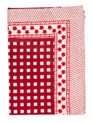Red check tablecloth from Chamois in Denmark