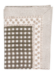 "Tablecloth - Check - Brown - 68"" x  108"""