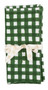 "Napkin from Chamois in Denmark - Check - Green - Set of 2 - 20"" SQ"