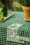 Kitchen Towel - Floral & Check - Green - Set of 2