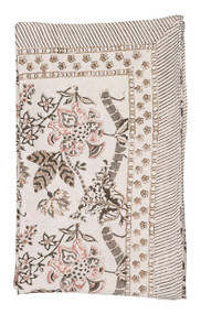 """Tablecloth - Floral - Beige - 68"""" x 108"""""""