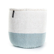 Kiondo Basket - Light Blue & White