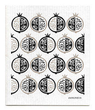 Swedish Dishcloth - Pomegranate - Black