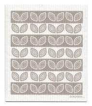 Swedish Dishcloth - Leaves - Grey