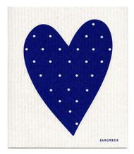 Swedish Dishcloth - Heart - Blue