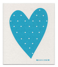 Swedish Dishcloth - Heart - Turquoise