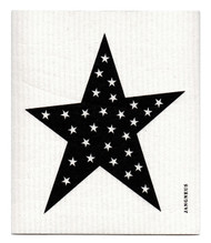 Swedish Dishcloth - Big Star - Black