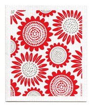Swedish Dishcloth - Sunflower - Red
