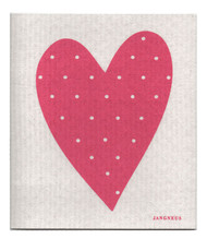 Swedish Dishcloth - Heart - Pink