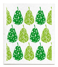 Swedish Dishcloth - Pears - Green