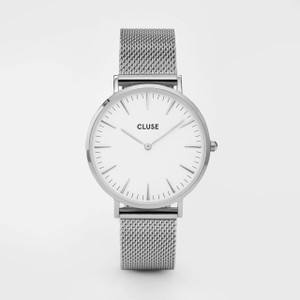 Cluse La Boheme Mesh Silver/White Watch