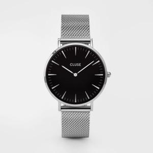 Cluse La Boheme Mesh Silver/Black Watch