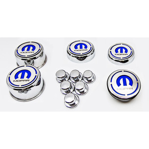 """11pc Cap Covers w/MOPAR """"M"""" Vinyl Inlay for 2008-2015 Charger V8"""