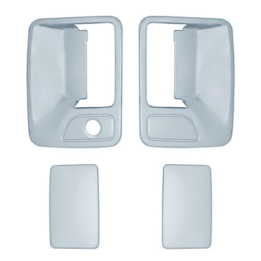Auto Reflections | Door Handle Covers and Trim | 99-14 Ford Super Duty | 11205k-f-250-350-Chrome-Door-Handle-Covers