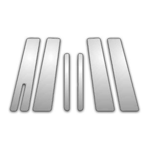 Auto Reflections   Pillar Post Covers and Trim   04-10 Mercury Mountaineer   P4061-Chrome-Pillar-Posts