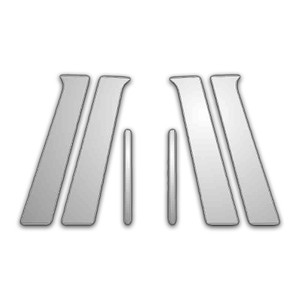 Auto Reflections   Pillar Post Covers and Trim   04-08 Mitsubishi Galant   P4817-Chrome-Pillar-Posts