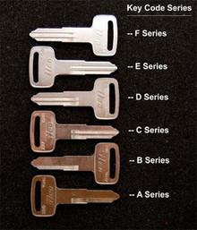 1976-1995 Yamaha XT250, XT350, XT500, XT550,  XT600 Motorcycle Keys