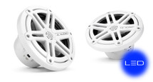 JL Audio MX650-CCX-SG-WLD-B: 6.5-inch (165 mm) Cockpit Coaxial System, White Sport Grilles with Blue LED