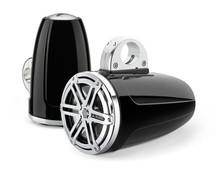 JL Audio MX770-ETXv3-SG-CB: 7.7-inch (196 mm) Enclosed Tower Coaxial System, Black Gel-Coat, Chrome Sport Grilles