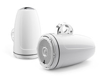 JL Audio M880-ETXv3-CG-WH: 8.8-inch (224 mm) Enclosed Tower Coaxial System, White Gel-Coat, White Classic Grilles