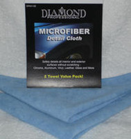 Wet or dry, the Diamond Professional Microfiber Detail Cloth works like magic. Using advanced microfiber technology, thousands of super fine fibers grab dirt and grime without scratching your car's surface. Soft, gentle and lint free - it traps dirt and dust like a magnet! 2 pack