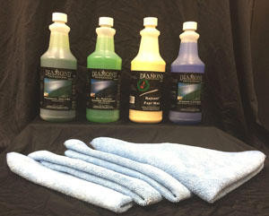 Quart Kit Special:  One quart each of Wash n Wax, APC Degreasaer, Fast Wax and S Dressing. Maintain your vehicle with everything you need from our line of professional, concentrated detail products.     Wash n Wax concentrated car wash soap. APC Degreaser heavy duty cleaner. Fast Wax easy to use protectant. S Dressing silicone high gloss dressing. 6 high quality micro-fiber towels.