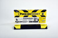 FaceBook special:  2 Parking Targets for only $18.00  Introducing the Parking Target, a great way to manage the parking location of the cars in your garage. The strong adhesive strips safely anchor the parking stop to the garage floor, assuring that you park in the same place every time. No more bumping into the bikes or tool cabinet in front of the car. No more closing the garage door on the bumper when you have not pulled in far enough! You just need one target per car. Simply use the adhesive strips to position the target on the floor. You can either position the stop in front or in back of the tire. Driving over it will not dislodge it.