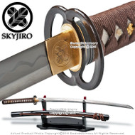 Skyjiro Ancient Iron Warrior Handmade 1070 Folded Steel Samurai Katana Sword