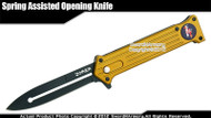 "8"" Green Joker Spring Assisted Open Pocket Folding Knife Black Blade"