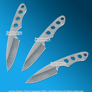 """3 Pcs 6"""" Full Tang Steel Throwing Knife Set Fixed Blade Throwers with Sheath"""