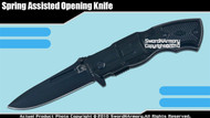 Spring Assisted Knife Tactical Folder w/ Revolver Handle