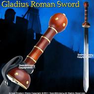 Gladius Roman Sword Gladiator Sparta Reenactment w/ Sheath