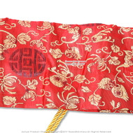 Luxury Silk Red Katana Sword Carrying Bag Blossoms New