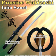 """30""""  Musashi Tsuba Iaito Wakizashi Shoto Katana Iaido Unsharpened Practice Sword"""