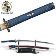 Munetoshi 2nd Gen Mokko Handmade Forged T10 Katana Samurai Sword Battle Wrap Red