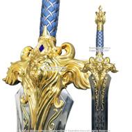 "47"" King Llane Greatsword Movie Prop Replica Collectible Steel Sword w/Plaque"