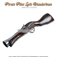 Naval Pirate Gun Flint Lock Blunderbuss Replica Pistol