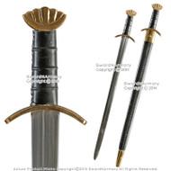 """40"""" Handmade Celtic Viking Norseman Spatha Godfred Sword w/ Brass Pommel Fitting"""