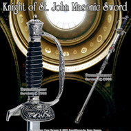 "33 "" Templar Crusader Knight of St. John Masonic Sword"