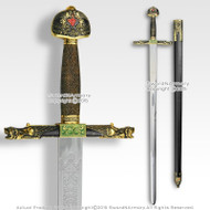 "40"" Knight Gryphons Medieval Arming Sword Stainless Steel Blade with Scabbard"