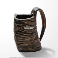 Viking Mug Water Buffalo Horn Handmade Functional Drinking Tankard reenactment Larp Cosplay