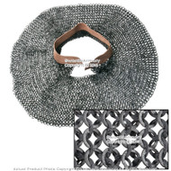 Functional Medieval Aventail Chainmail Neck Protector Flat Ring Wedge Riveted M