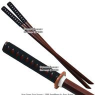 2 Pcs Set Wooden Kendo Practice Bokken Katana Sword