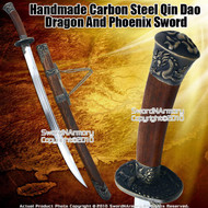 Handmade Carbon Steel Qin Dao Chinese Broad Sword Sharp