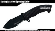 Mastiff Brand Spring Assisted Tactical Knife Pockedt Folder 7CR17MOV Steel Blade