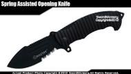 Mastiff Brand Spring Assisted Tactical Knife Pockedt Folder 7CR17MOV Steel Blade