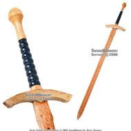 "45 "" Medieval Practice Wooden Waster Great Sword Prop"