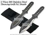 "2 Pcs 8.5"" 440 Stainless Steel Throwing Knife With Pouch"