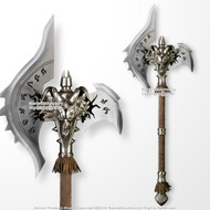 "43"" Fantasy Warcraft Ram Skull Battle Axe Anime Shadowmourne Cosplay"